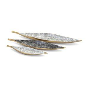 Bandejas de hojas doradas set de 3
